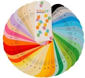Spalvoto popieriaus spalvos su kodais
