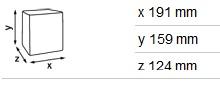 Stalo serveteliu KATRIN laikiklio 22564 matmenys